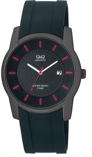 Наручные часы Q&Q A438J502Y. Кварцевые, мужские, корпус из нержавеющей стали, минеральное стекло