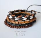 "brace №2 ""Bead and Rope Festival Bracelet"""