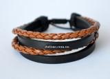 "brace №6 ""Braided and Straped Bracelet"""