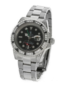 Rolex №229-1 GMT-Master II Steel black diamond купить по низкой цене